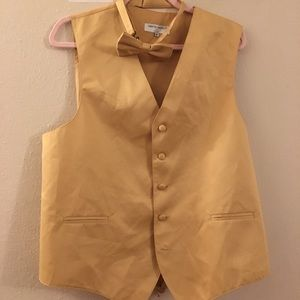 Other - Gold vest and bow tie